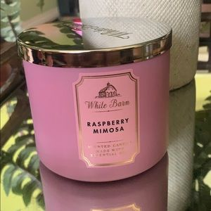 NEW WHITE BARN RASPBERRY MIMOSA CANDLE